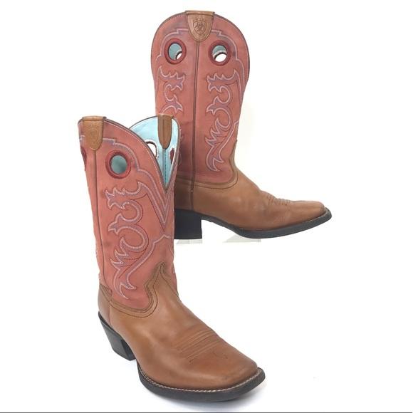 181fad908fb Ariat crossfire 16846 cowboy boots square toe 8 B